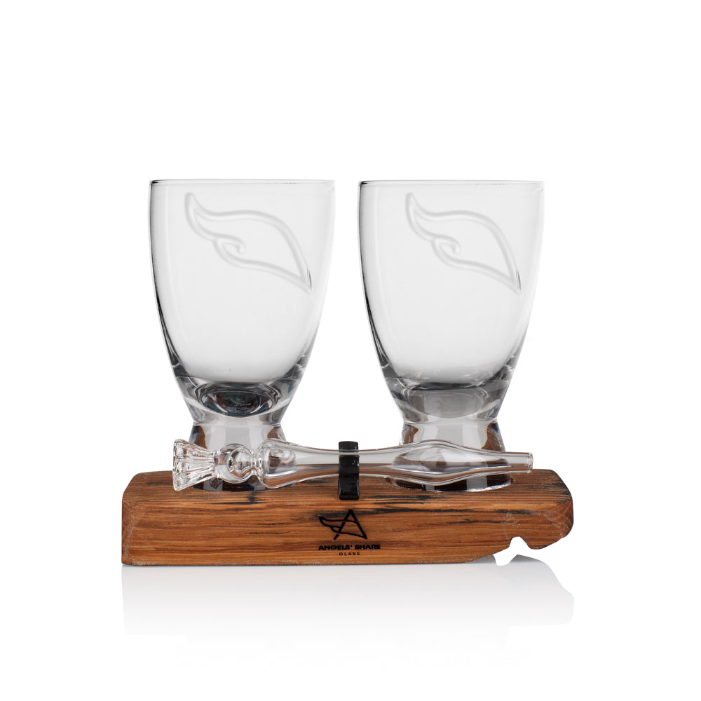 Twin Set - Angels' Share Glasses & Mini Whisky Water Dropper