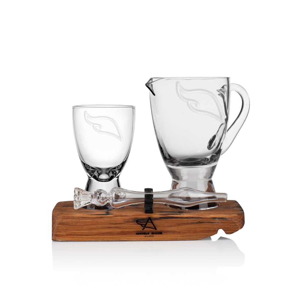 Twin Set - Mini Angels' Share Glass, Water Jug & Mini Whisky Water Dropper