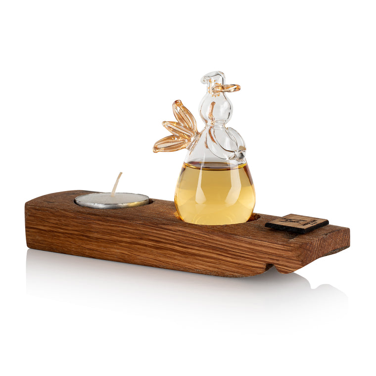 Whisky Angel and Oak Tealight stand by Angels 'Share Glass