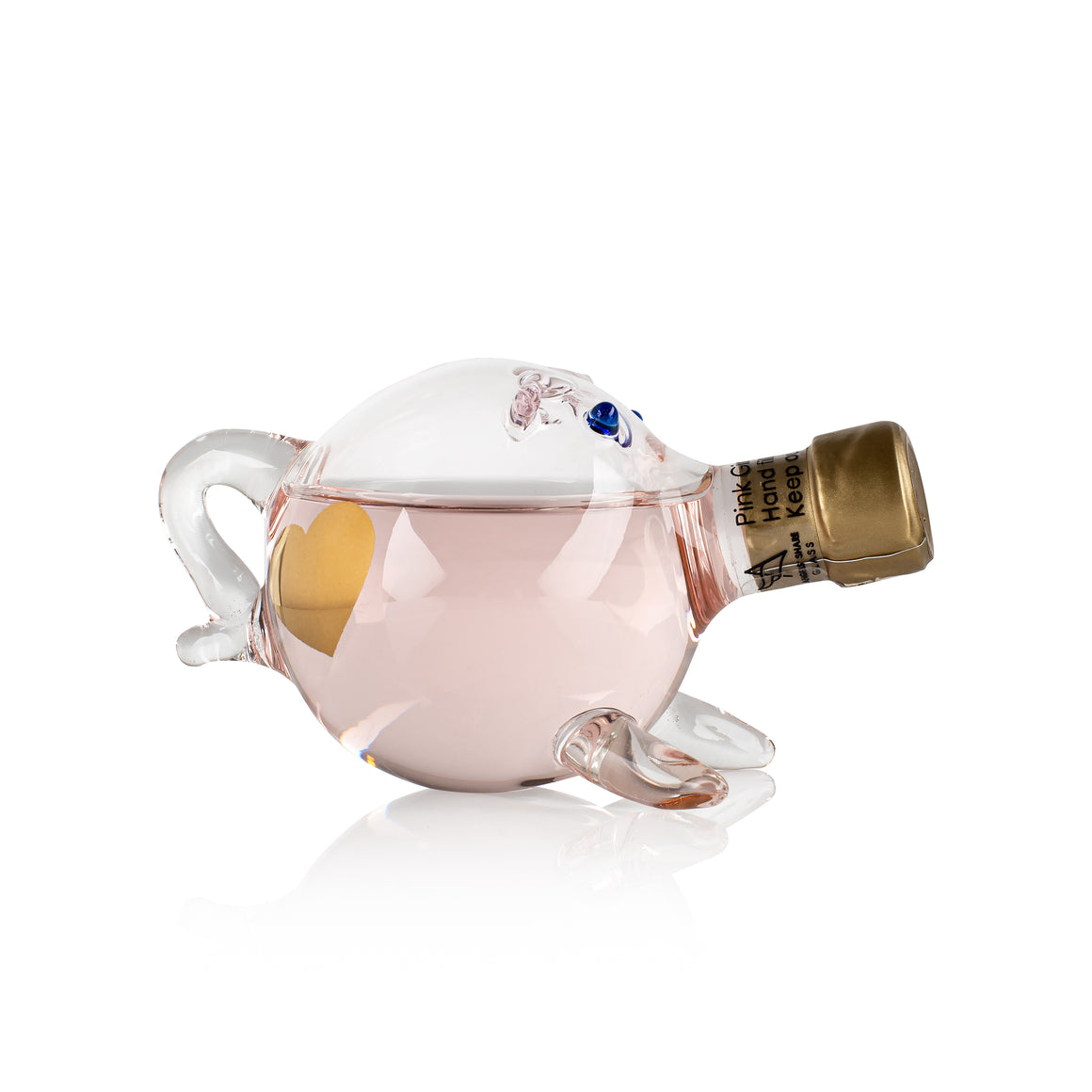 Love Gin Pigs - mini decanter filled with Artisan Gin and Love Heart Tattoos