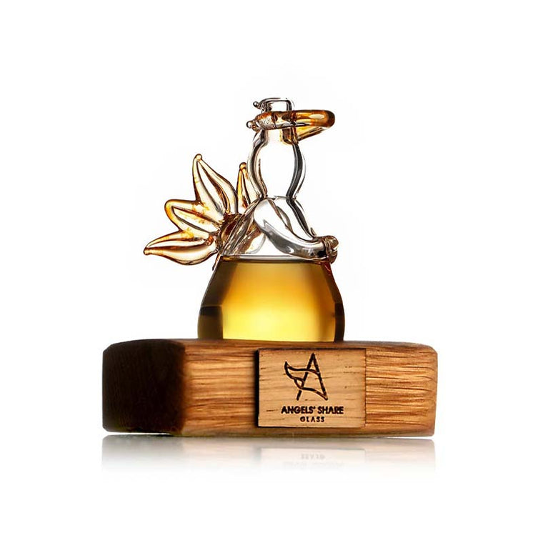 Glass Whisky Angel on Oak Stand by Angels' Share Glass