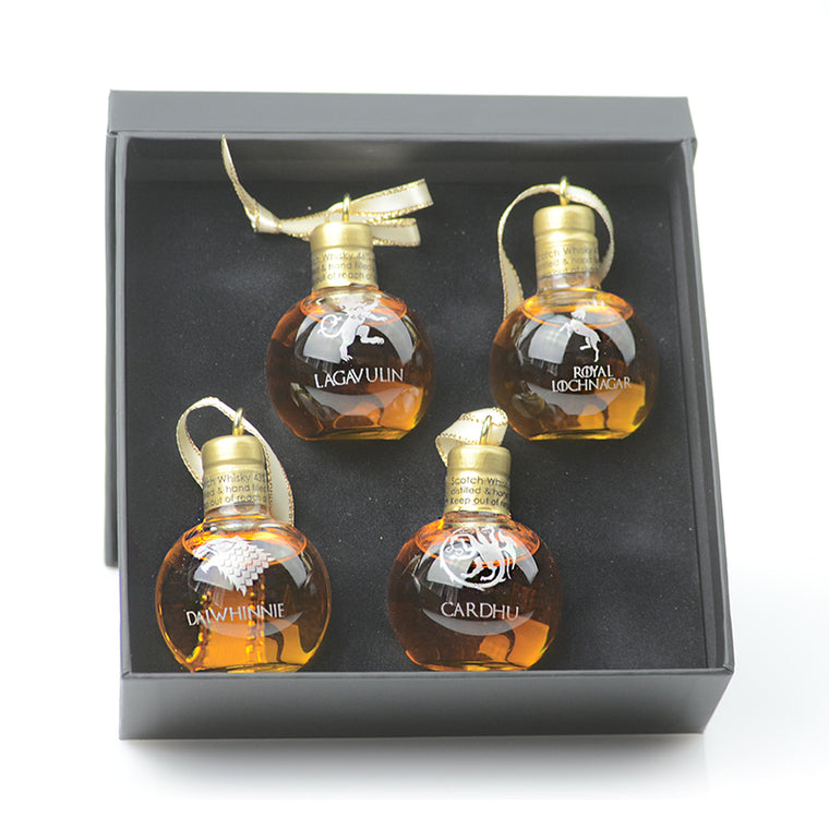 Angels' Share Limited Edition Game of Thrones Inspired Whisky Bauble Set