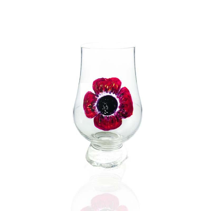 Poppy Glencairn Glass