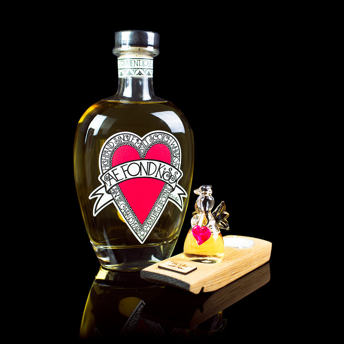 Ae Fond Kiss limited edition whisky gift by Angels' Share Glass