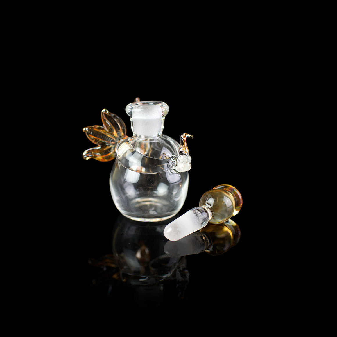 Glass Angel mini decanter handmade by Angels' Share Glass