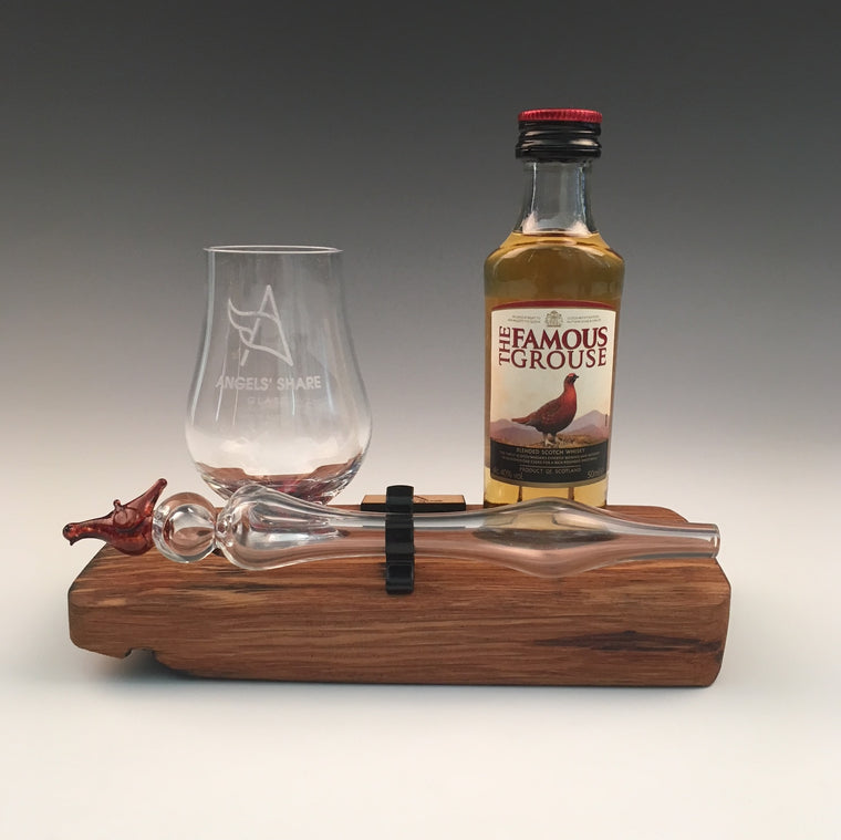 The Famous Grouse - Whisky Miniature, Mini Grouse Dropper and Glass Set