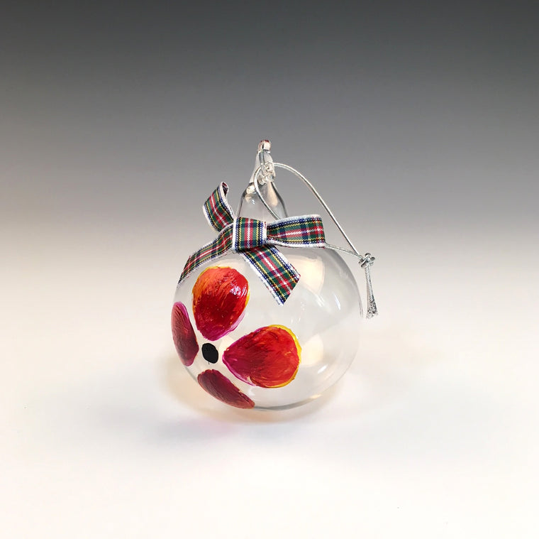 Poppy Glass Bauble