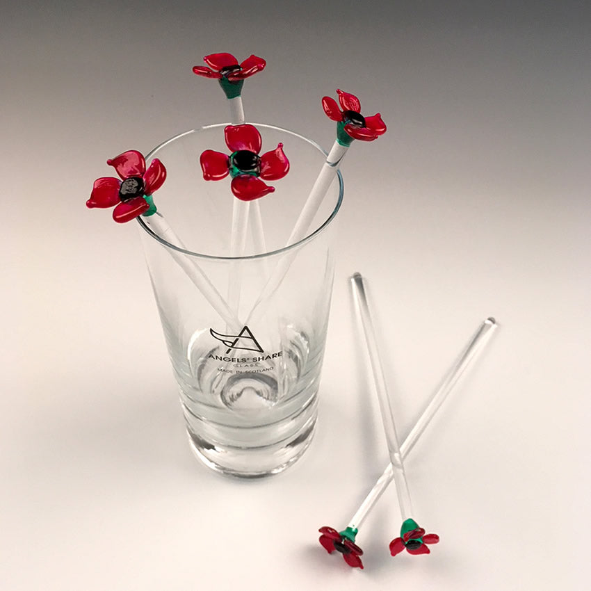 Poppy Drink Stirrers