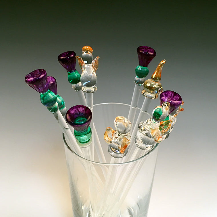 Tall Glass Drink Stirrers