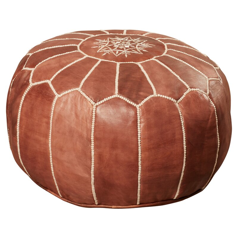 CozyBoho™ Moroccan Pouf Ottoman 100% Genuine Leather