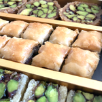 Syrian Authentic Pistachio Baklava (1.1lb) 0.5Kg - Anoush USA