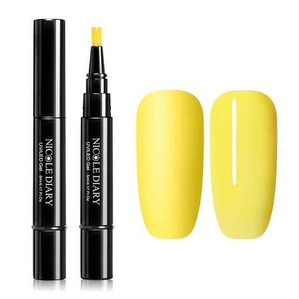 Nail Varnish Pen / Yellow & variants