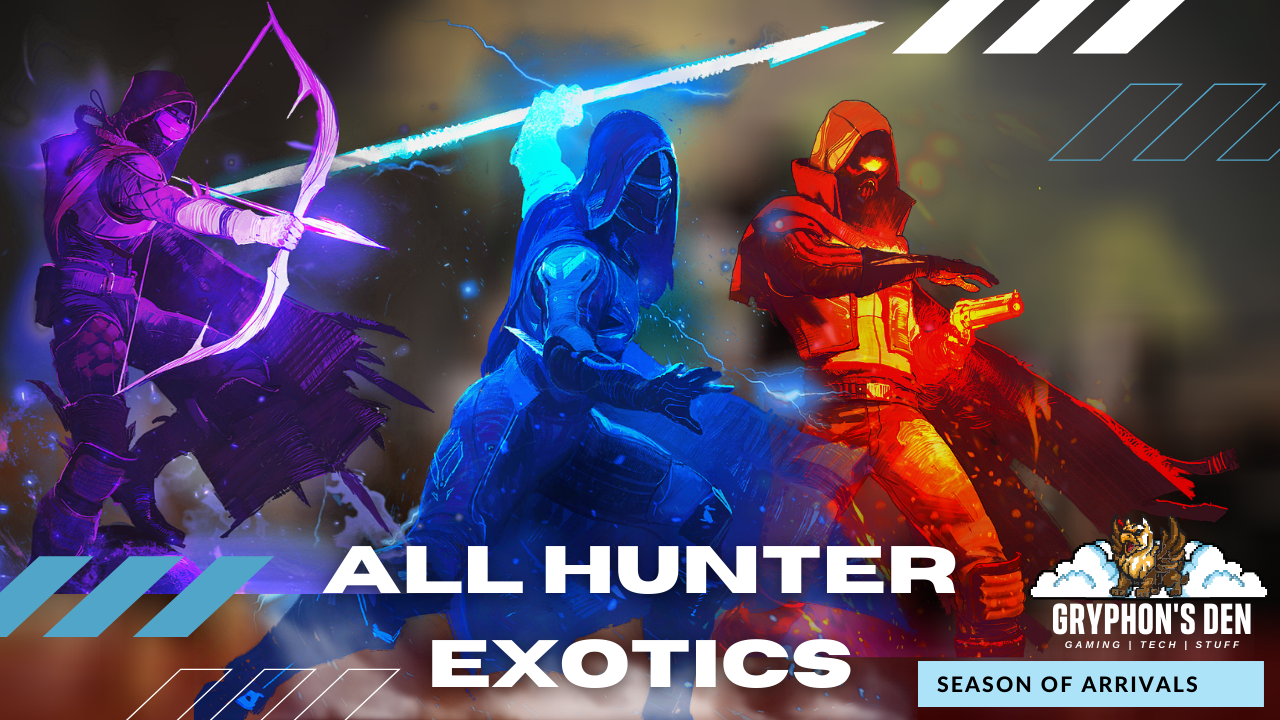 Destiny 2 - All Hunter Exotic Armor Pieces Season of Arrivals