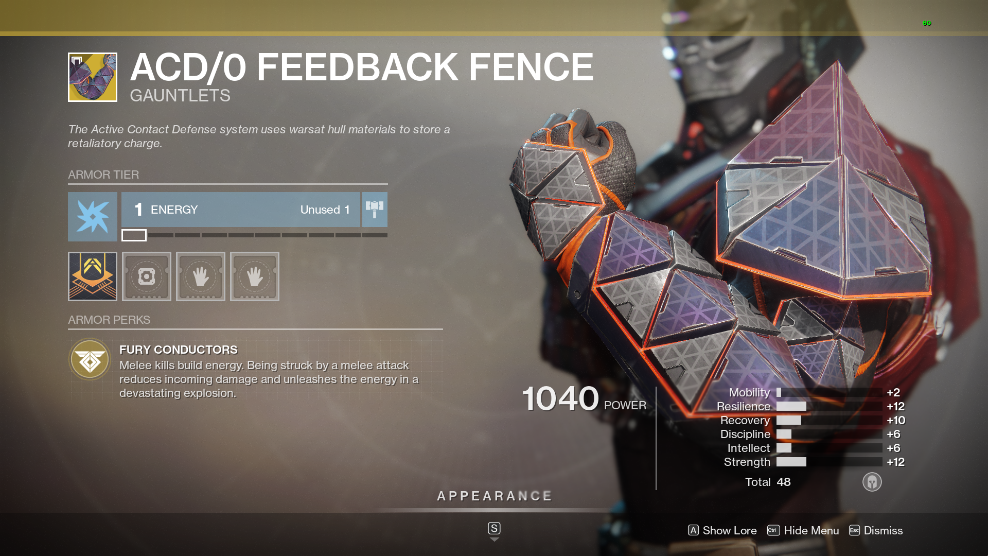 Destiny 2 Titan Exotic  ACD/0 Feedback Fence