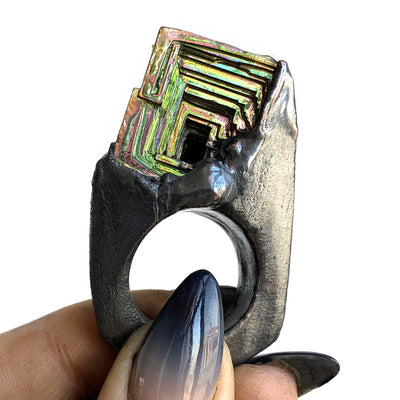 Bismuth Tower Angular Ring