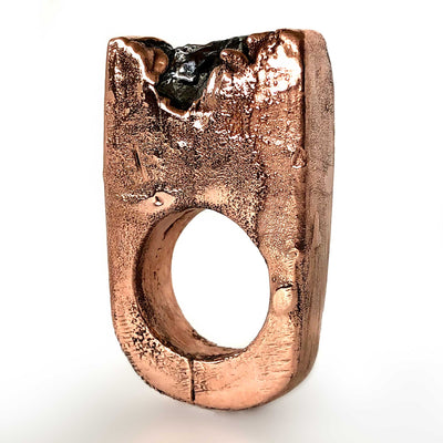 Meteorite Crater Ring, Bright Copper