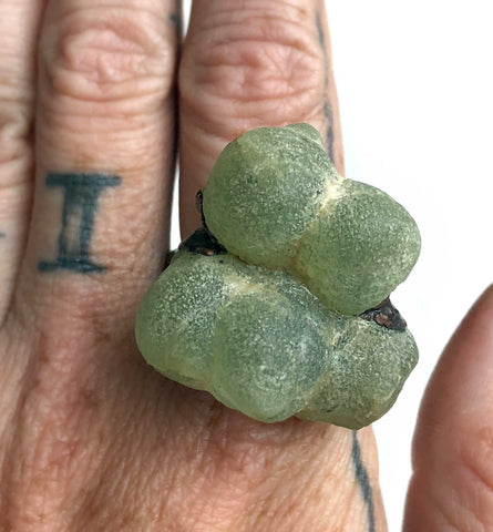 Prehnite Crystal Ring