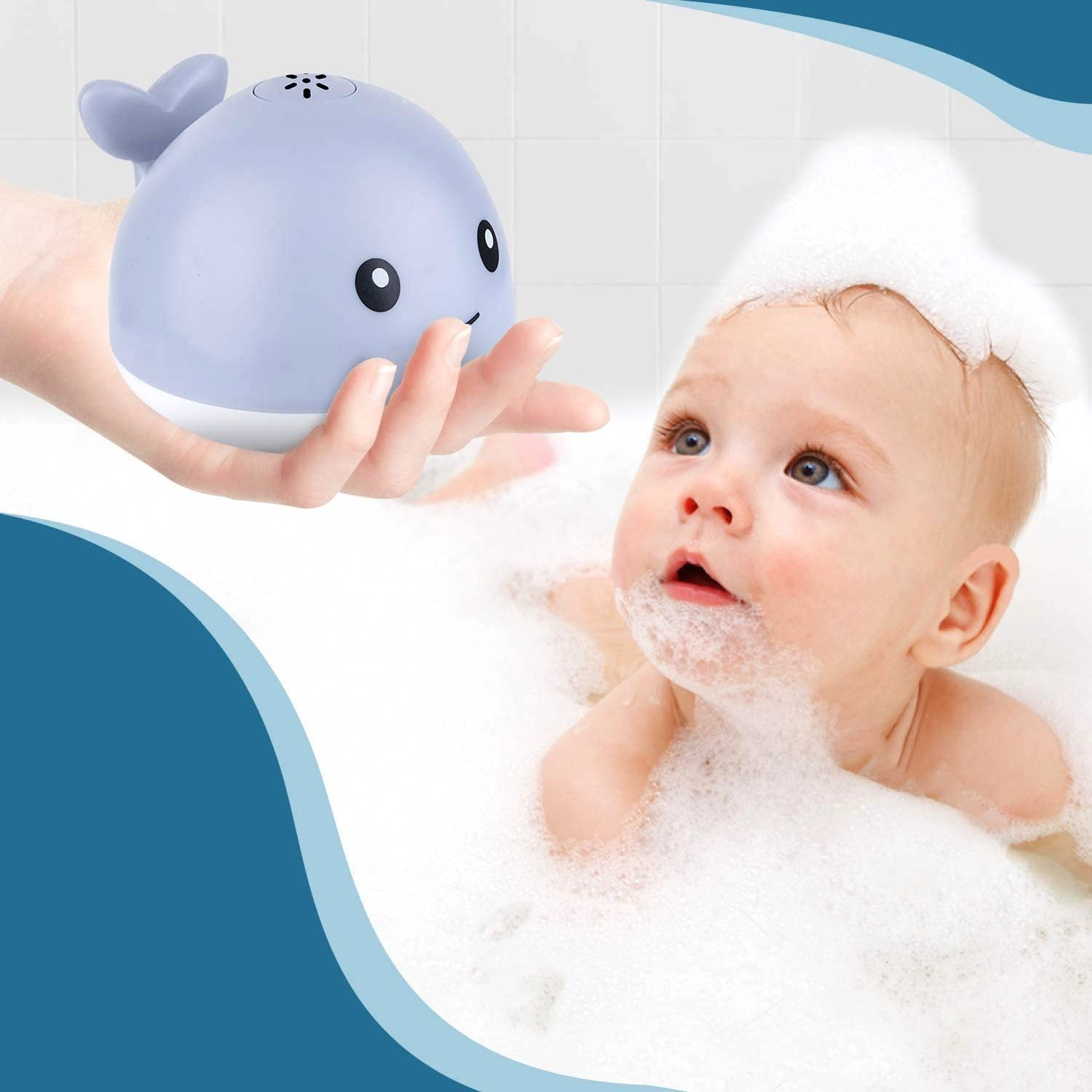 WILLIE THE SPRINKLER WHALE BATH TOY