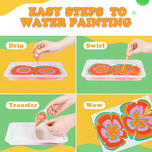 Water Marbling Paint Art Kit for Kids