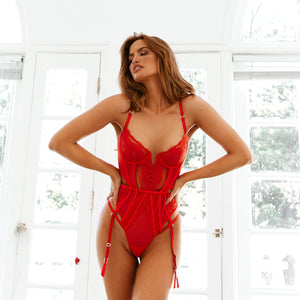 Mila Red Intimates Bodysuit