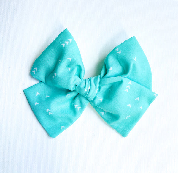 Teal Pattern Bow