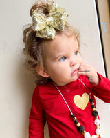 Sparkle Gold Bow