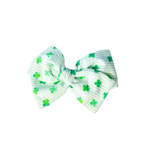 Striped Shamrock Bow