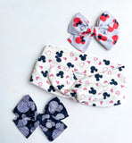Mickey & Hearts Twisted Headband