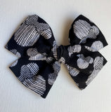 Minnie Mouse Black and White Sketch Bow