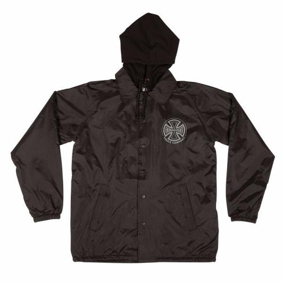 Independent Hooded Coach's Windbreaker Black