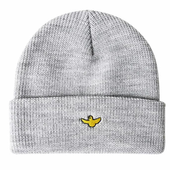Krooked Beanie bird cuff grey