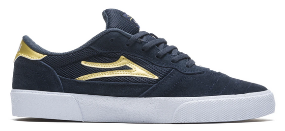 Lakai Cambridge Shoes Navy/Gold