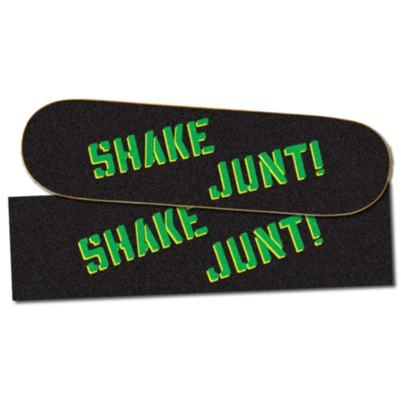 Shake Junt SJ OG Sprayed Green & Yellow Griptape Sheet