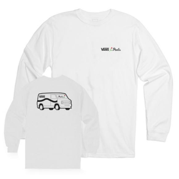 Vans X Peels Long Sleeve Tee White