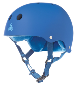 Triple Eight Sweatsaver Blue Rubber  Helmet