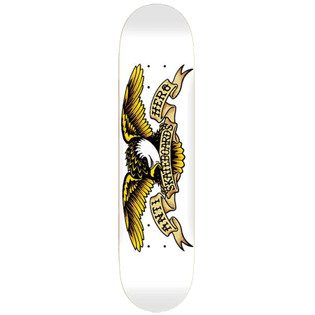 AntiHero Classic Eagle White Deck 8.75