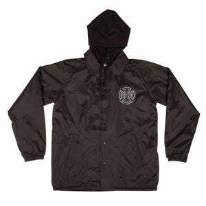 Independent Hooded Coach's Windbreaker Jacket Black