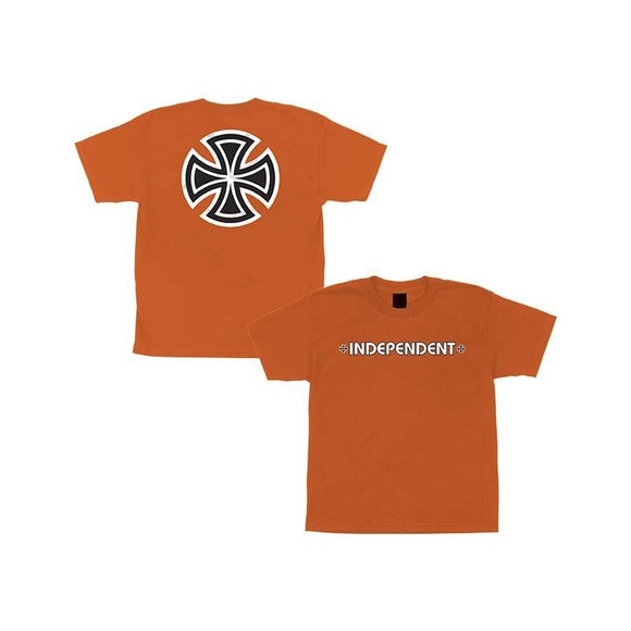 Independent Bar Cross Youth Tee Orange