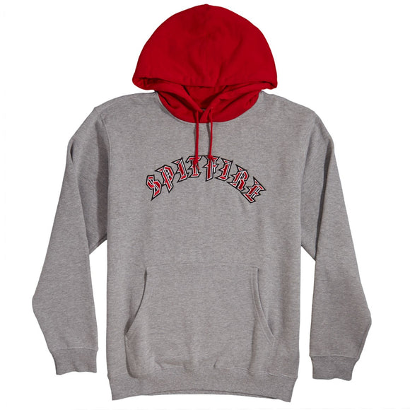 Spitfire Old E Embroidered Blocked Hoodie