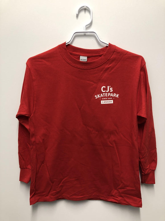 CJs Red Long Sleeve Youth Tee