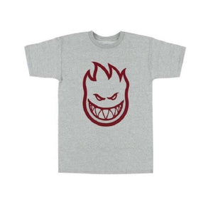 Spitfire Bighead Tee Grey/Dark Red