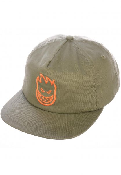 Spitfire Snapback Hat Khaki/Orange