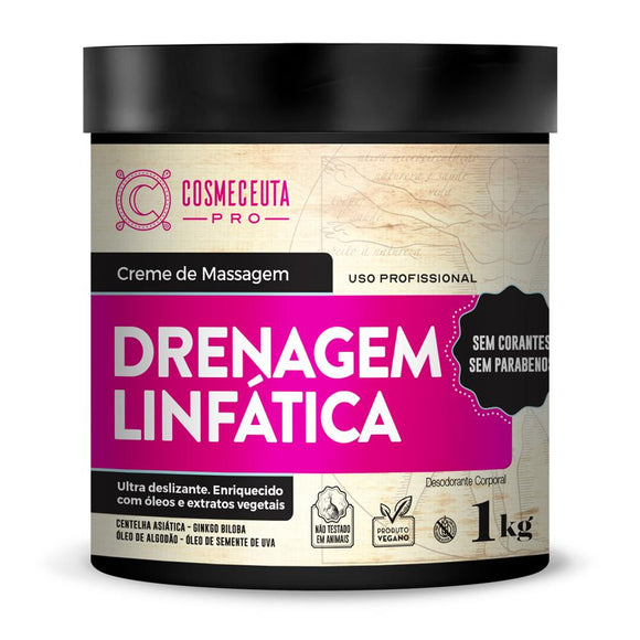 Creme de Massagem Drenagem Linfática Cosmeceuta - Shop Shop Beauty