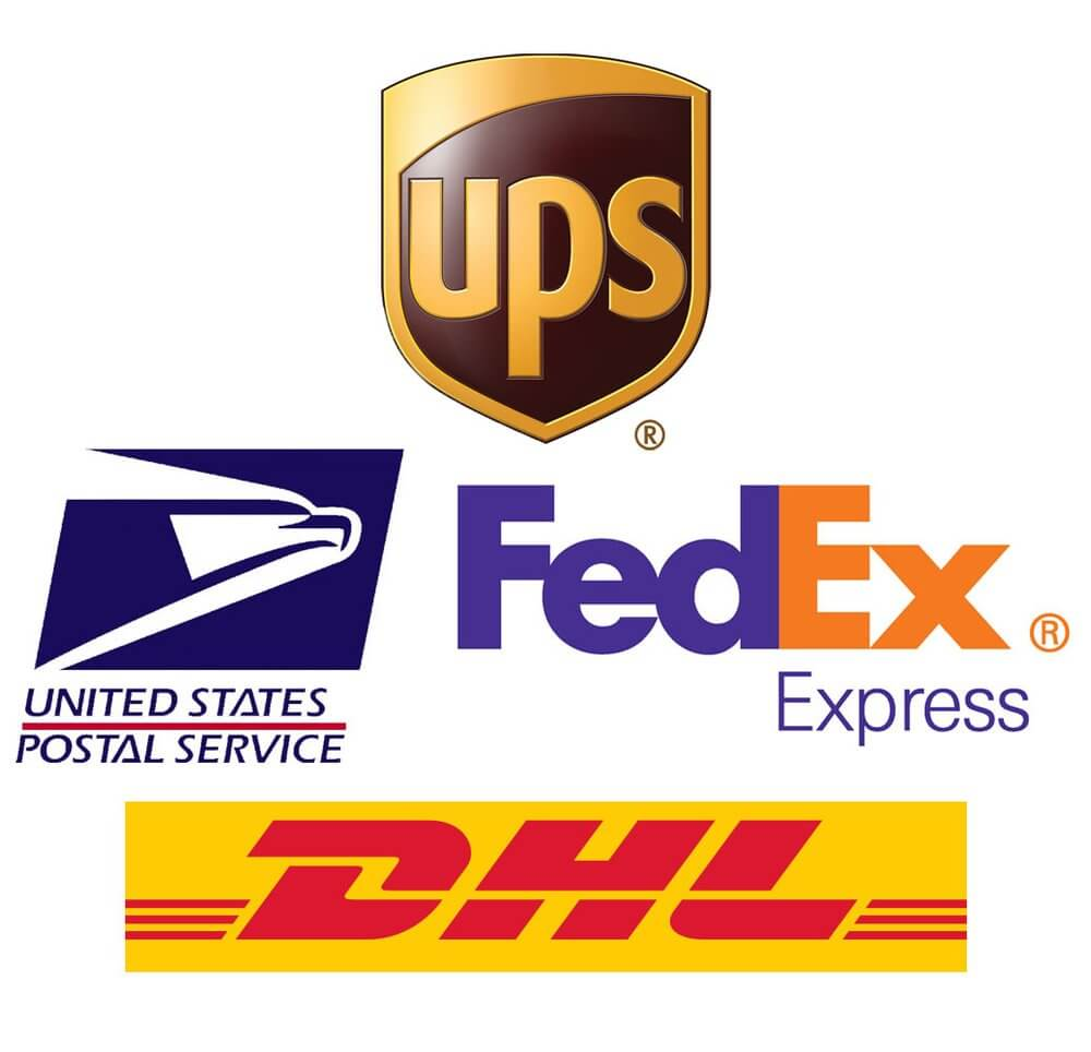 Mask Shipping Carriers USPS UPS FEDEX DHL