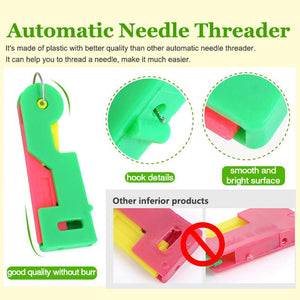 3//6//10p Thread Guide Elderly  Device Sewing Tool Kit Automatic Needle Threader