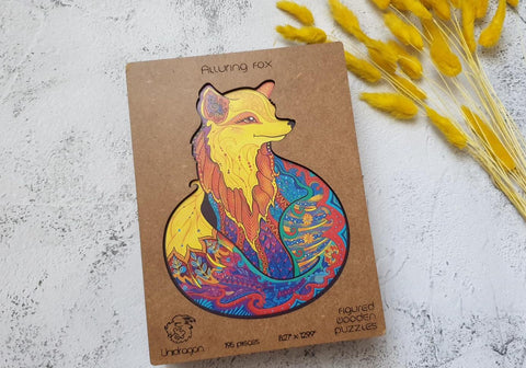 Wooden Jigsaw Puzzle Alluring Fox