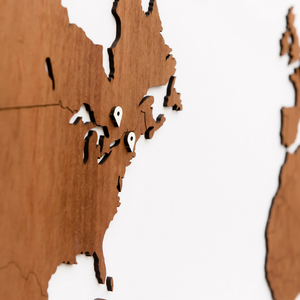 EXCLUSIVE WOODEN WORLD MAP - SAPELE - Homizmo