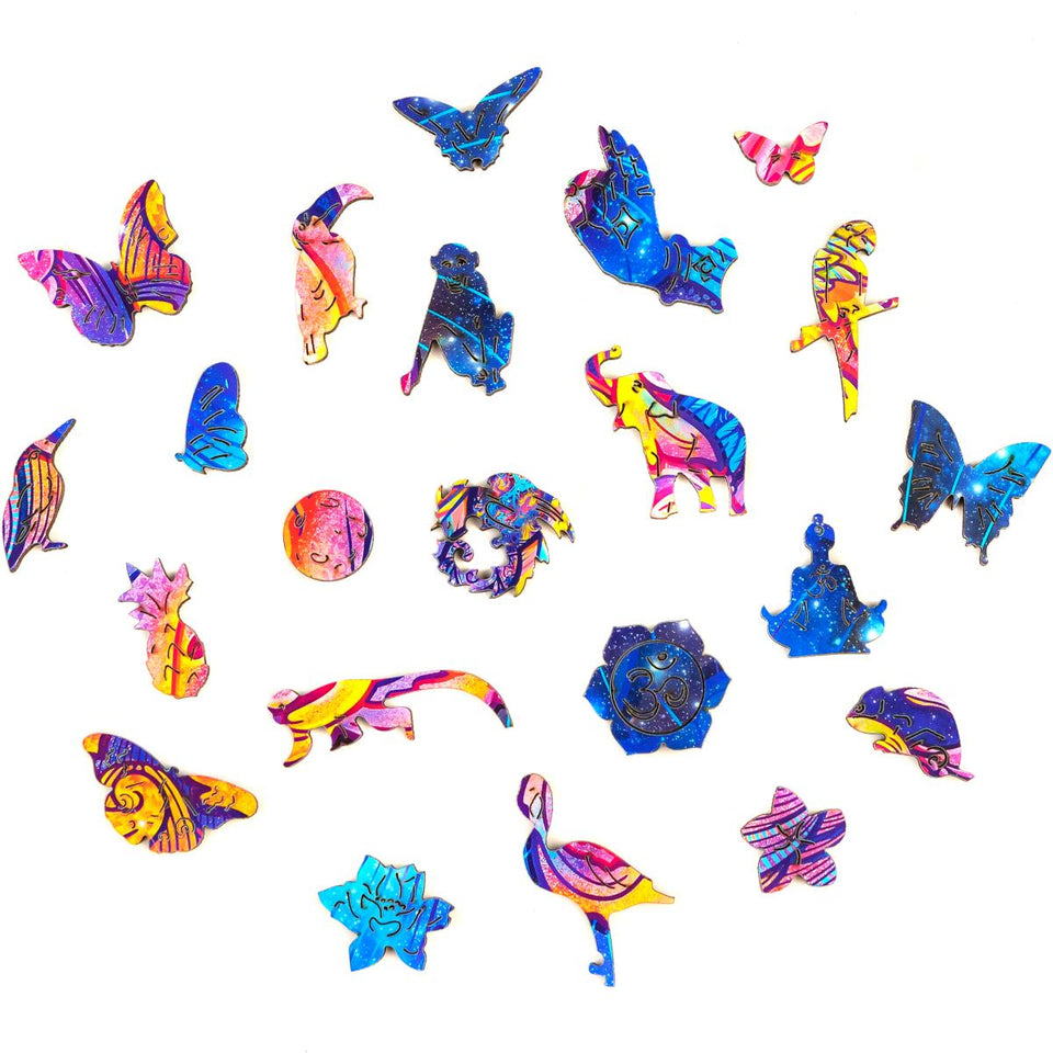 Wooden Jigsaw Puzzle Intergalaxy Butterfly