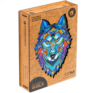 Wooden Jigsaw Puzzle Majestic Wolf