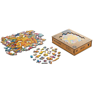 Wooden Jigsaw Puzzle Prosperous Bull